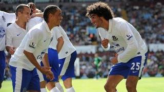 Everton celebrating